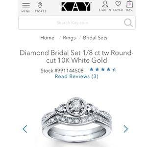 Diamond 10K White Gold Kay Jewelers Bridal Set